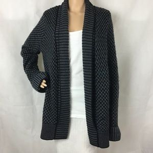 🏷 Matty M Cardigan Sweater Gray Black Size L